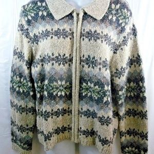 Croft & Barrow Nordic Cardigan Sweater PL Petite